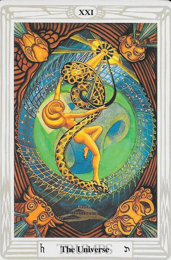 The tarot of Eli: The Druid Craft Tarot- Key 21- The World