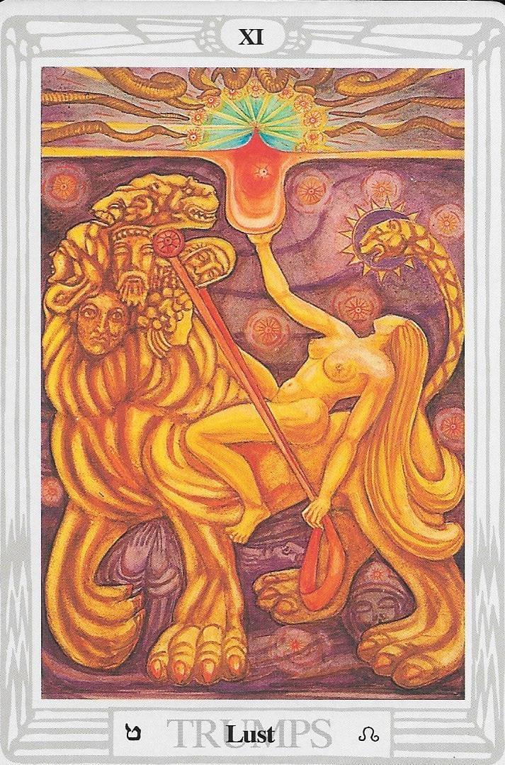 The tarot of Eli: The Tarot of The Old Path-key 8-Strength and the