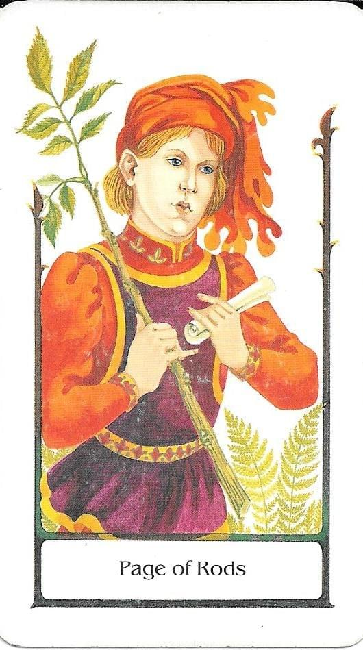 The Tarot of Eli: The Tarot of The Old Path-Page of Rods