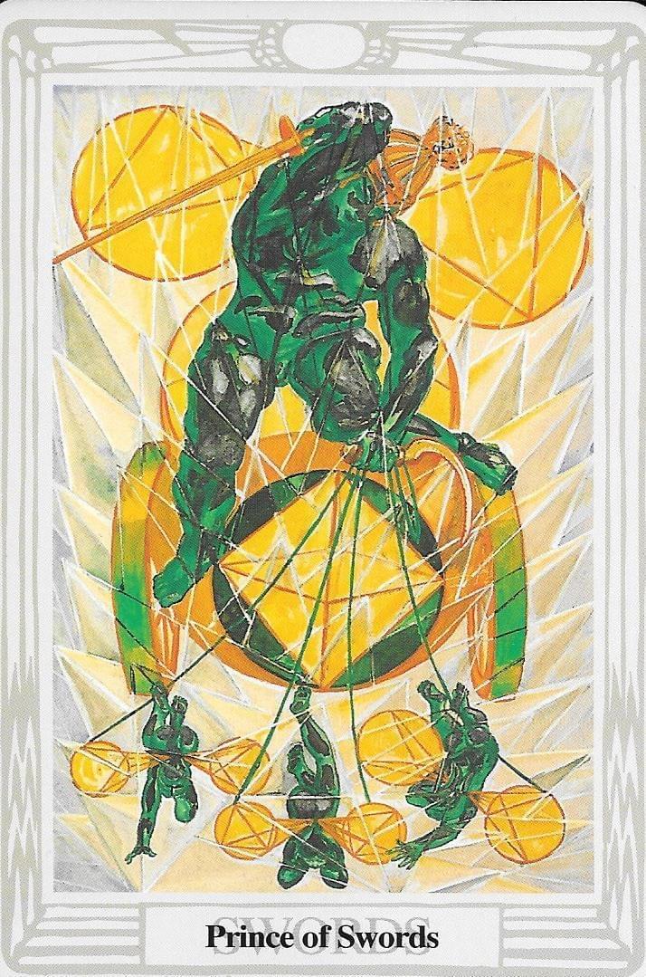 The Tarot of Eli:The Thoth Prince of Swords & The Night Sun