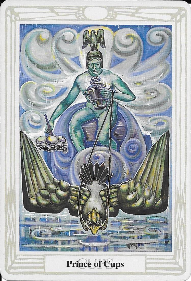 The Tarot of Eli:The Thoth Prince of Cups & The Night Sun
