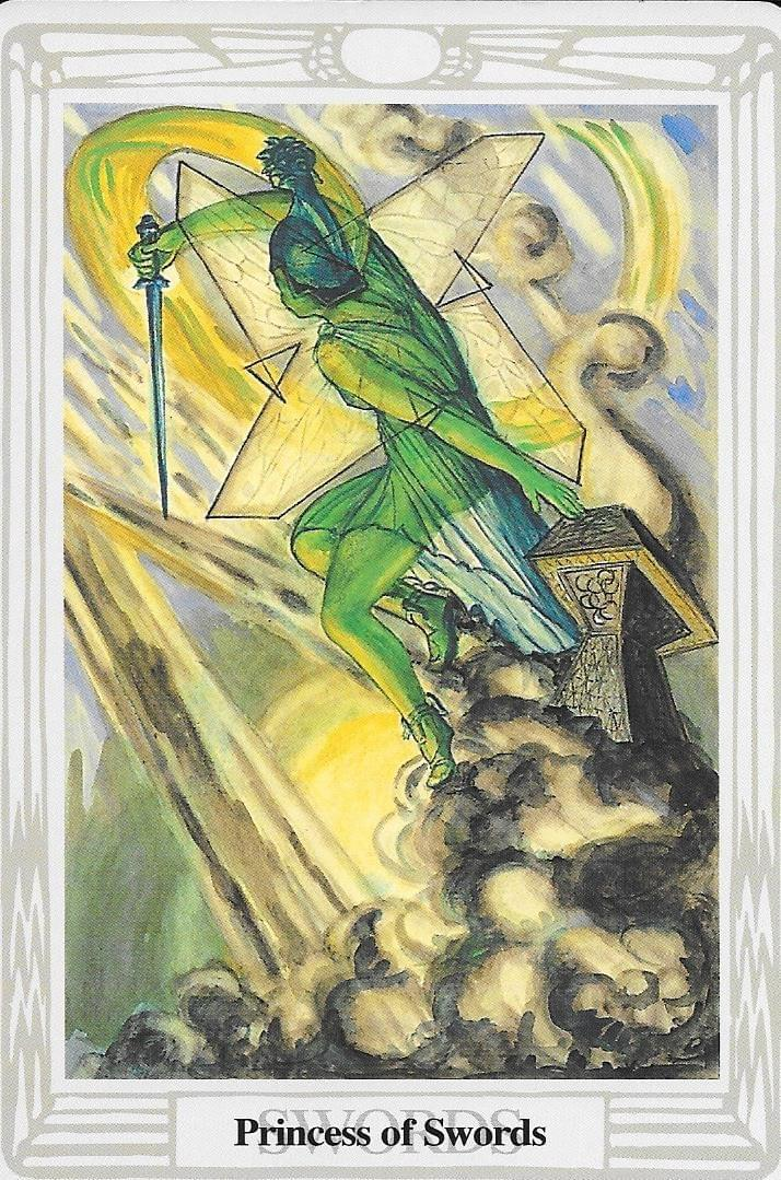 The Tarot of Eli: The Tarot of The Old Path-Page of Swords