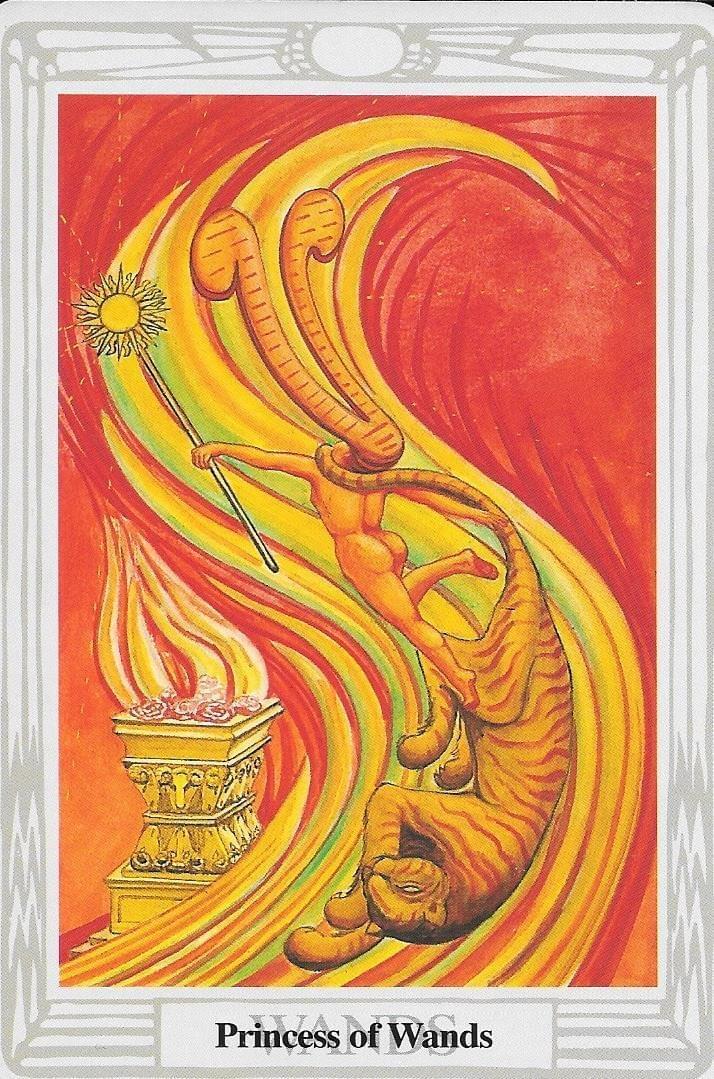 The Tarot of Eli: The Thoth Tarot-Princess of Wands & The