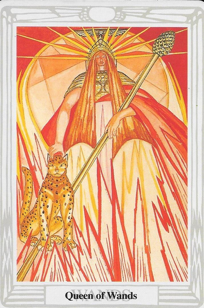The Tarot of Eli: The Tarot of The Old Path- Queen of Rods