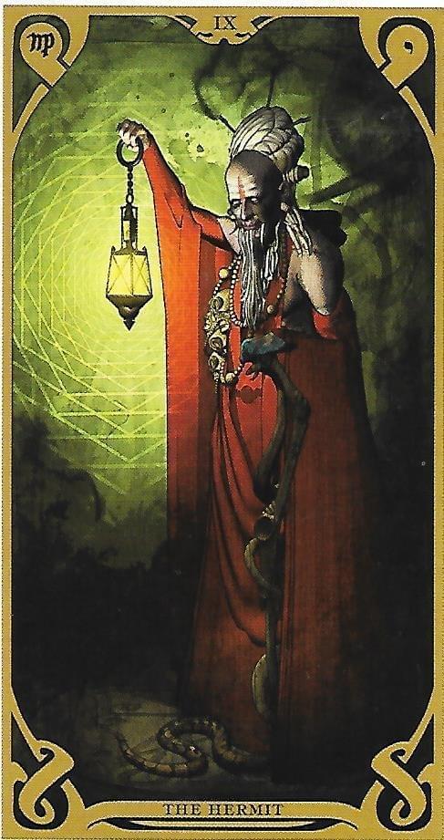 The Tarot of Eli- The Hermit - Qabalah tarot comparison Thoth tarot