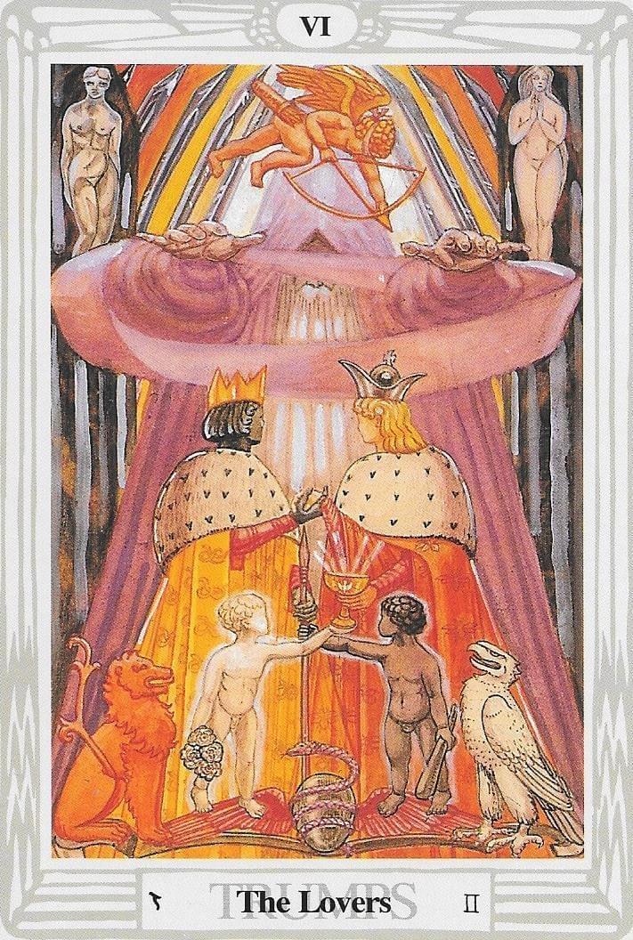The Tarot of Eli: The Starman Tarot- Key 6- The Lovers & The