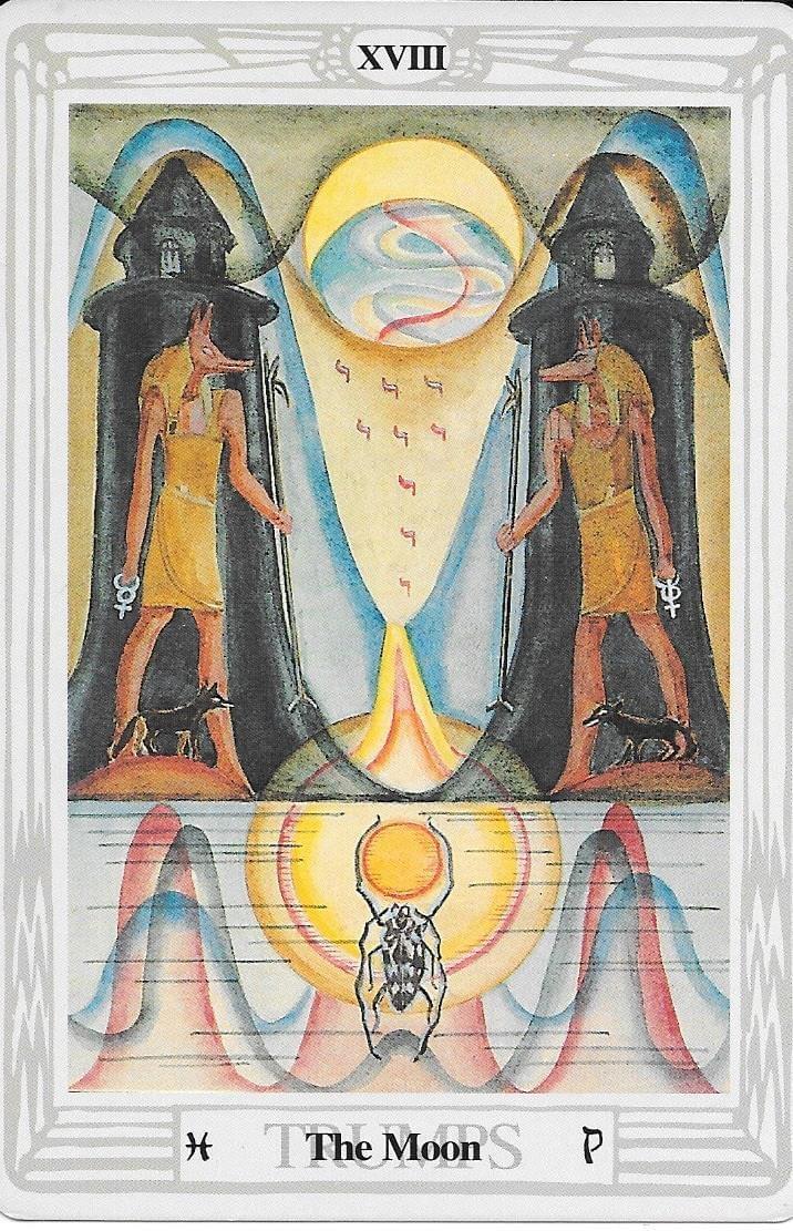 The Tarot of Eli: The Thoth Tarot-ATU 18-The Moon - tarot comparison