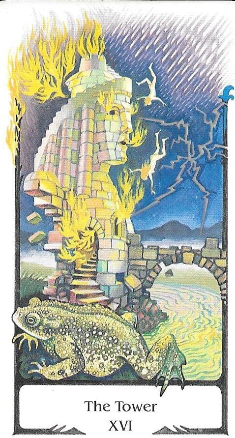 The Tarot of Eli: The Tarot of The Old Path-Key 16-The Tower & The