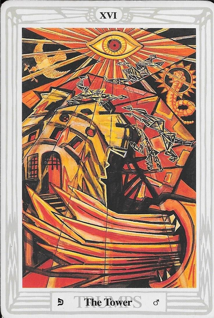 The Tarot of Eli: The Thoth Tarot-Key 16- The Tower - Thoth
