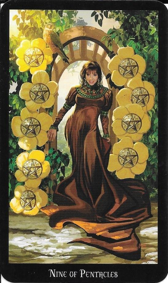 The Tarot of Eli: The Witches Tarot-Nine of Pentacles & The