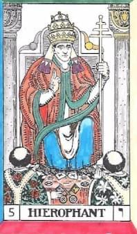 The Tarot of Eli: Key 5-The Hierophant - Thoth tarot Qabalah