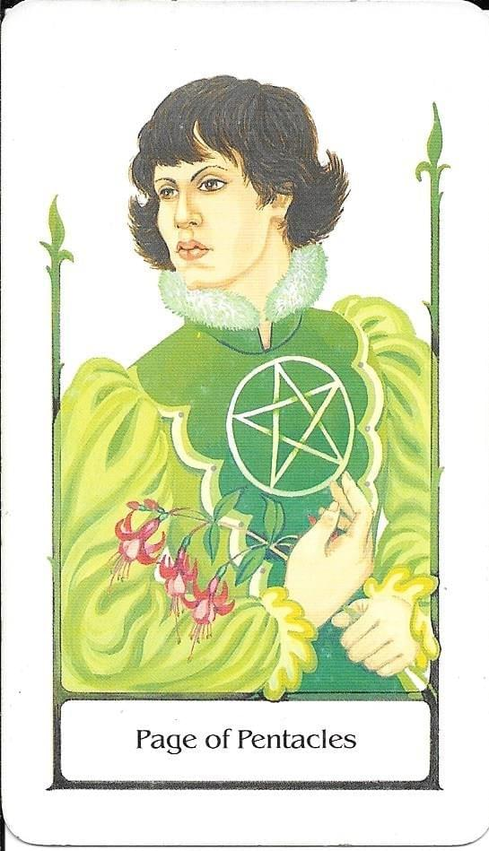 The tarot of Eli: The Tarot of The Old Path-Page of