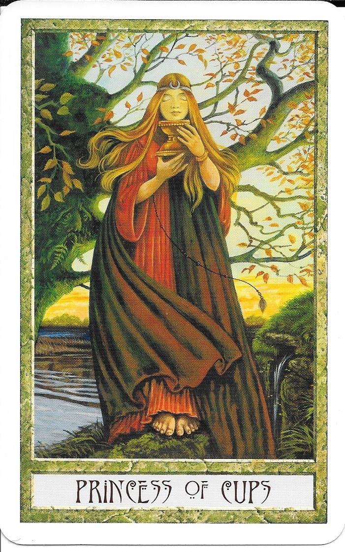 The Tarot of Eli: The Druid Craft Tarot- Princess of Cups