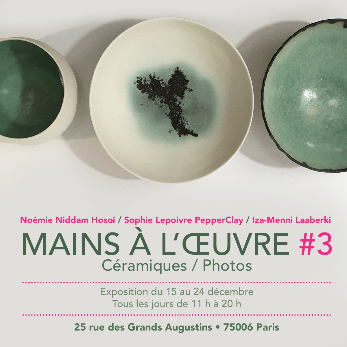 cours stage céramique poterie ceramique sculpture PepperClay Ceramic vente Paris Charenton