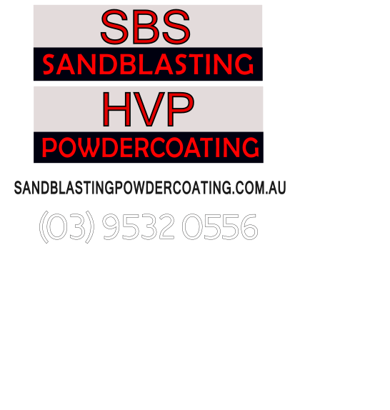 SBS Sandblasting - HVP Hogh Volume Powdercoating Logos