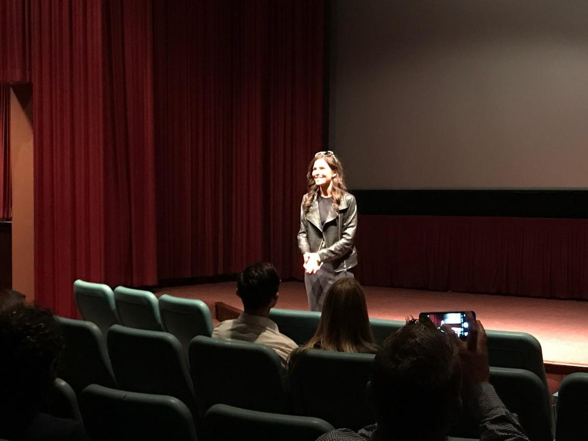 Director/writer Maggie VandenBerghe introducing the film.