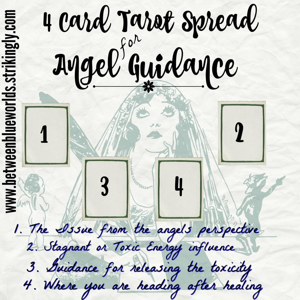 4 Card Tarot Spread For Angel Guidance - Tarot Spreads
