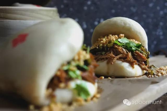 Taiwanese pork belly buns, like Chinese pulled pork.