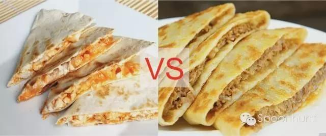 Chinese Quesadilla called Xian Bing 馅饼 meat pie flatbread in China.