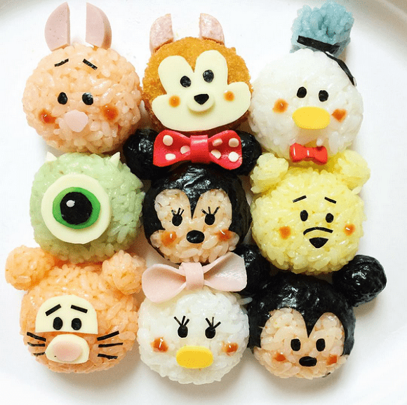 Rice ball characters. Mickey, minnie, pooh, tigger, monsters, donald China breakfast