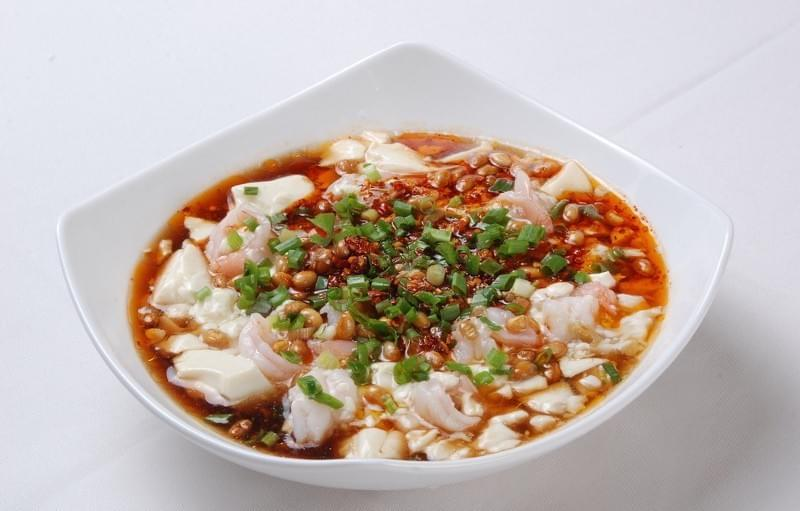 Savory, spicy douhua, sichuan breakfast, China.