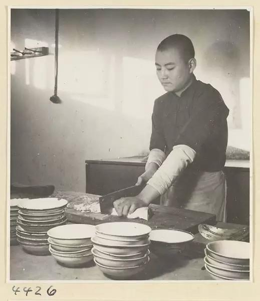 Kaorou Wan Restaurant 烤肉宛饭庄 in Beijing, China is over 100 years old, original photo.