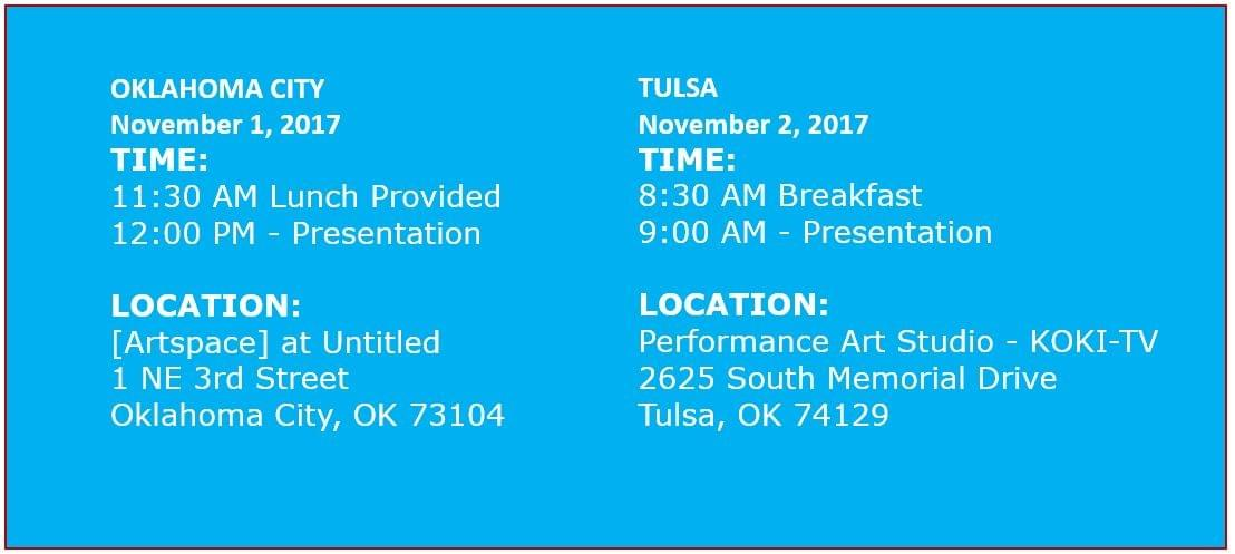 November 2017 Digital Marketing Training for local business owners in Tulsa and Oklahoma City.