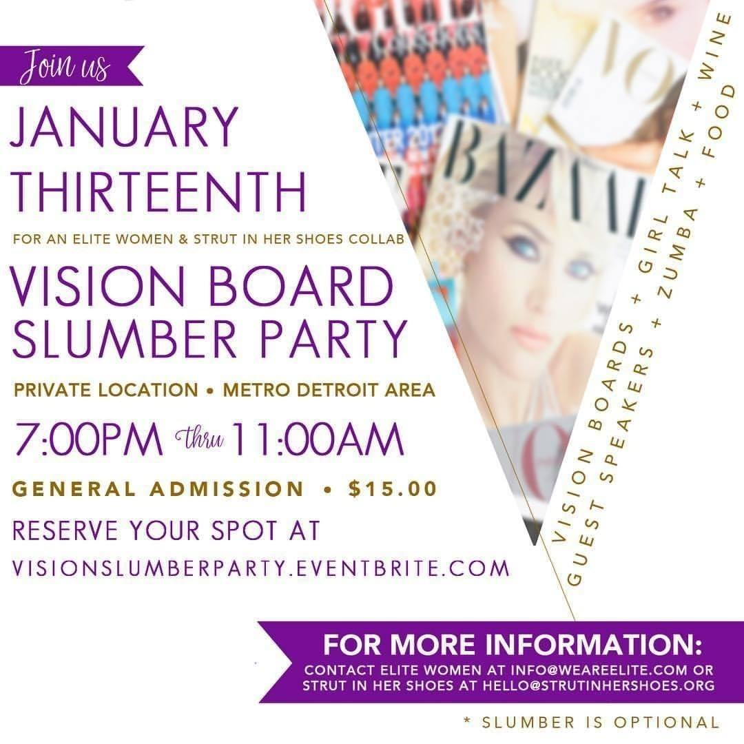Vision Board Slumber Party Registration