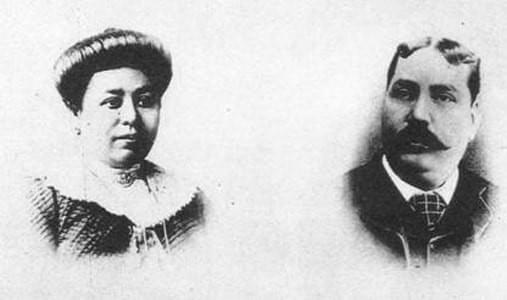 Picture source: english.cri.cn; Luo Jialing (left) used to sell flowers along the streets in Shanghai until she married Silas Hardoon (right), the wealthy Jewish businessman.