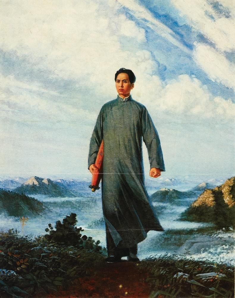 Picture source:British Library Prints; Chairman Mao Goes to Anyuan, Liu Chunhua,oil, 1967