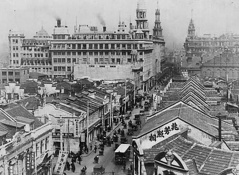 Picture source:Wikipedia; Nanking Road within International Settlement