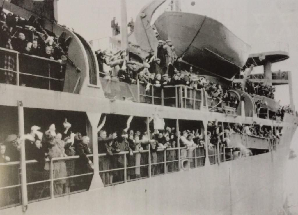 Picture source:Times of Israel; Shanghai Jewish refugees leaving Shanghai for new settlements
