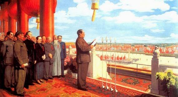 Picture source:The World of Chinese; The Founding of the Nation; Dong Xiwen,oil, 1953
