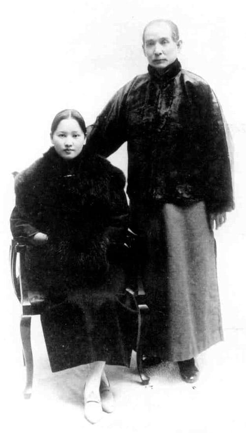 Picture source: www.cwi.org.cn; Soong Ching Ling & Sun Yat-sen in Shanghai in 1919