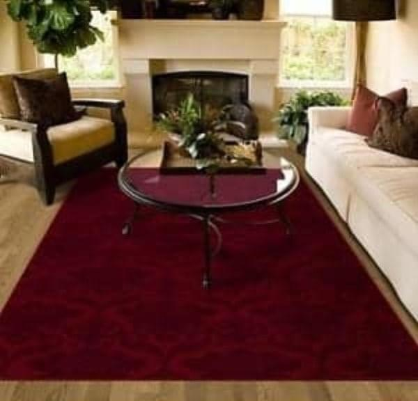 Tiffany Lee Ann Design : Neutral white modern family room burgundy carpet