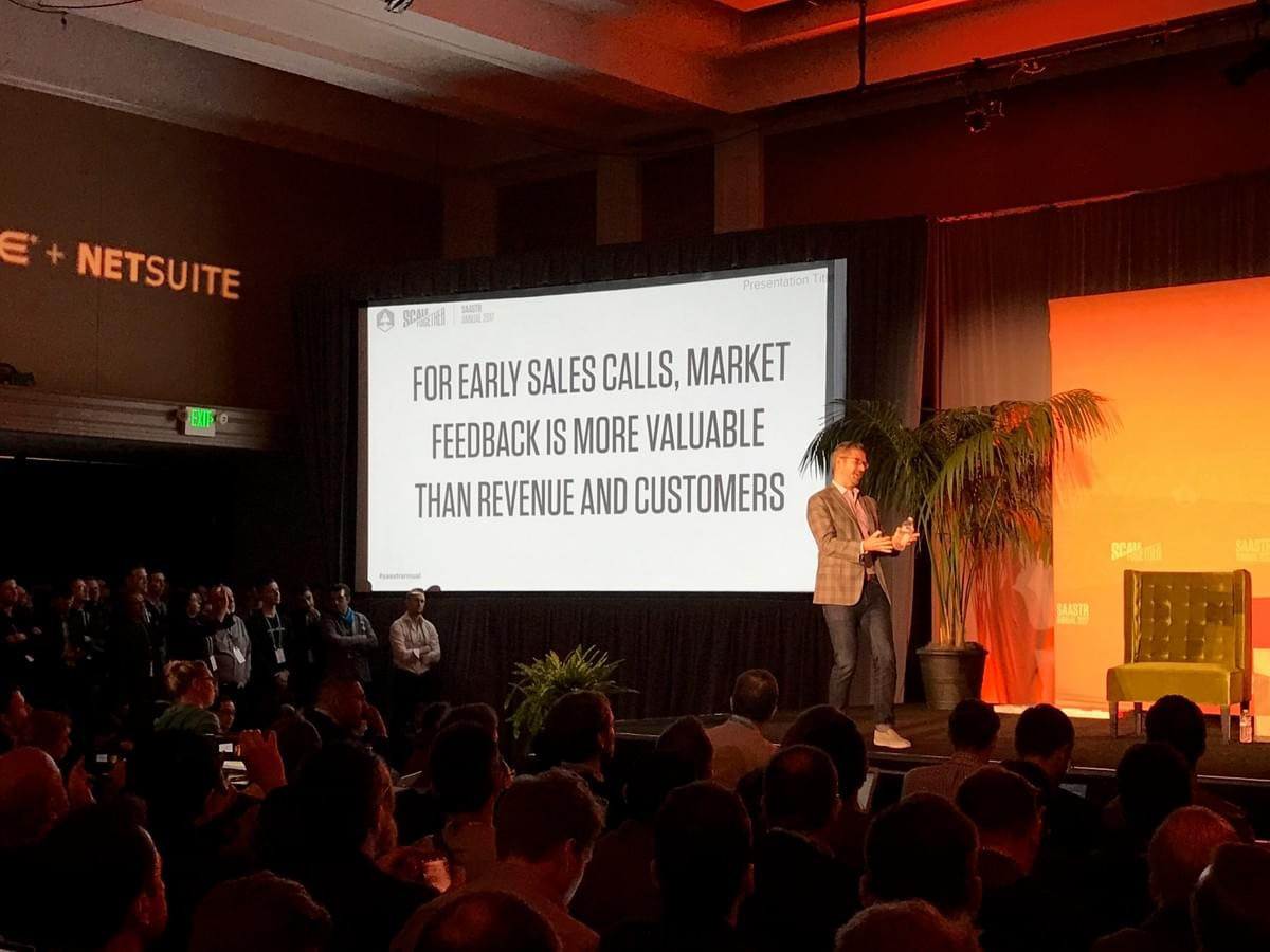 mark roberge, saastr annual, sales mistakes