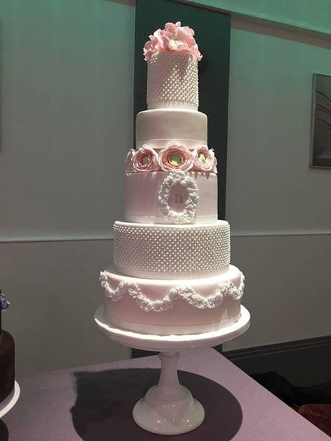 Isle of Man luxury wedding cake