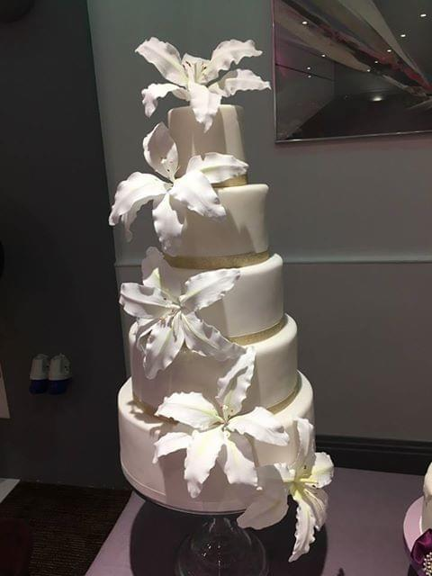 Isle of Man Wedding Lily Wedding Cake