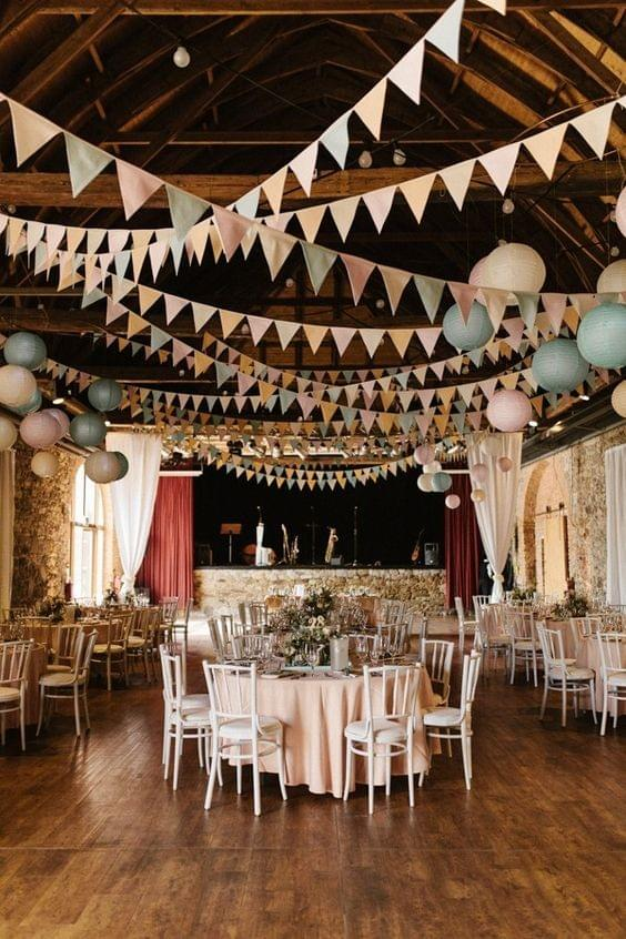 June Bug Weddings - Barn with bunting