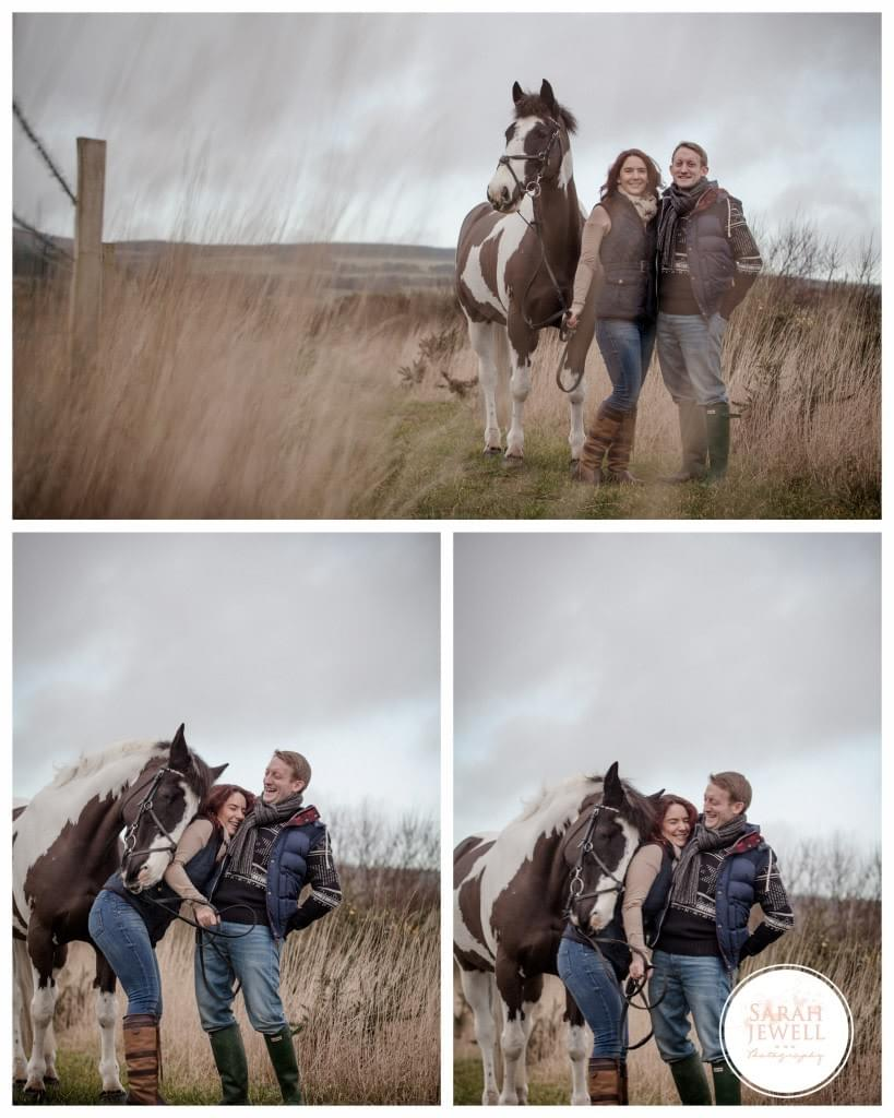 engagement shoot with horse - Jewell Photography