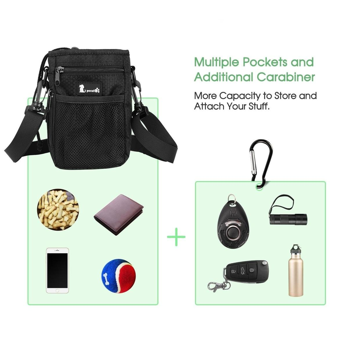 a2206840e6f4 Pecute Dogs Treat Training Pouch Carrying Bag Food Toy Holder - pet ...