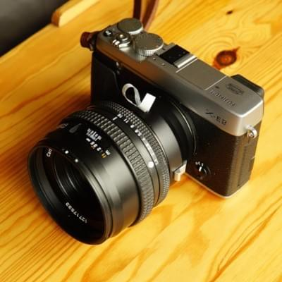 Fringer adapter prototype for Fujifilm X mount