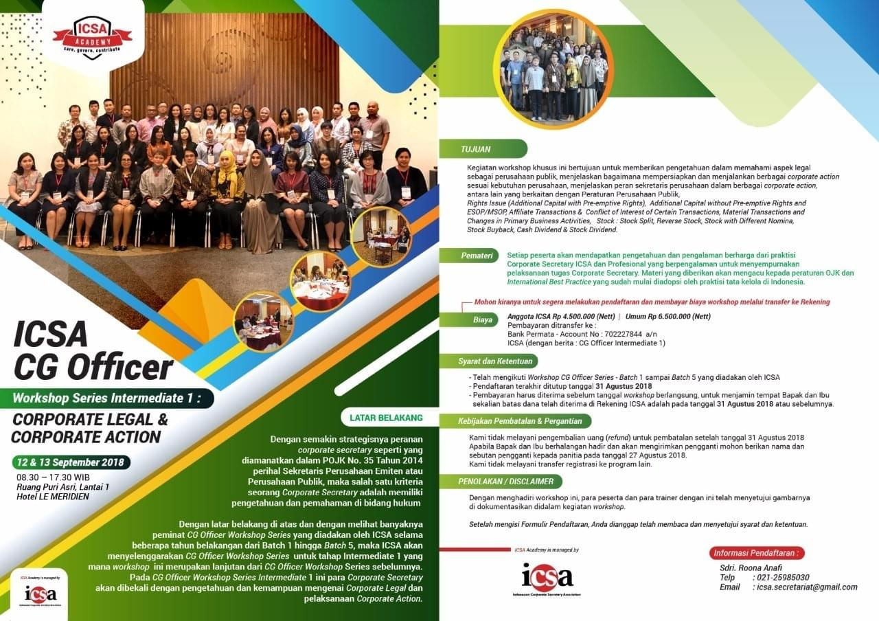 Icsa Indonesia Corporate Secretary Association