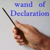 Wand of Declaration Possibility Management