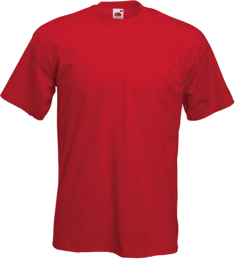 4bc3c54d T Shirt Printing, T Shirt Printing Business, Fruit of the loom, T Shirt.  Fruit of The Loom Soft Premium Red