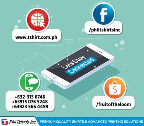 Facebook, Shopee, Website, Mobile Number,  Social Media, Accounts, Phil TShirt,