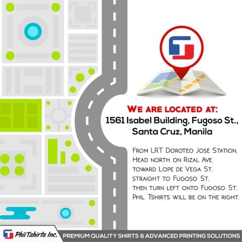 location, address, Fugoso St, Fugos street, Fugoso, Manila, Metro Manila, Philippines, Manila City, Isabel Building, Isabel Bldg, Rizal Ave, Rizal Avenue, Avenida, Phil Tshirt Store, physical store, store
