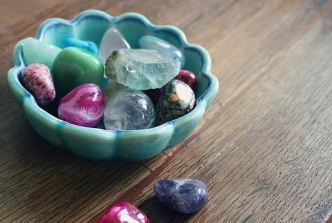 Healing Energy - Bowl of healing crystals