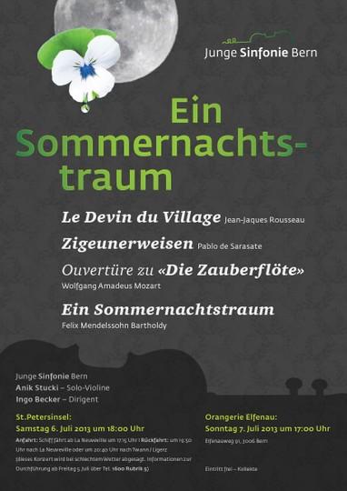 Sommerkonzert 2013 der Jungen Sinfonie Bern