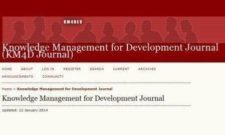 Knowledge Management for Development Journal